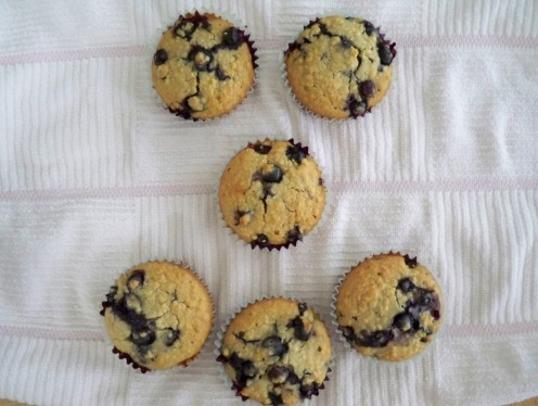 Very Berry Blueberry Muffin Recipe Is Lightly Sweetened With Agave
