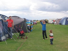 Messing about by the tent