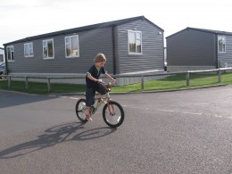 Older children love biking around the safe complex - it gives them freedom and a feeling of independence.