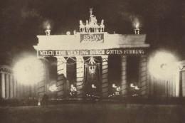 The Brandenburg Gate, Berlin, festooned after the Battle of Sedan
