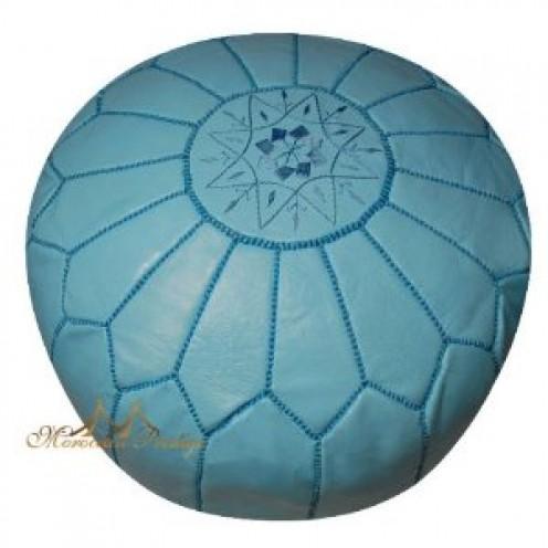 Blue Moroccan pouf.