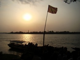 Sunset in Ganga at Shyamnagar