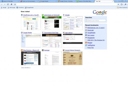 Google Chrome's Tabbed Browsing