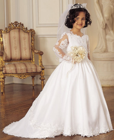 Flower Girl Dress with Lace Work