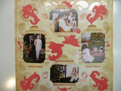 Easy to Make with Cricut Scrapbook Page Idea- Christmas Holidays