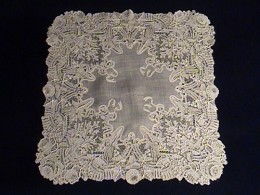 Example of a Museum quality Handkerchief too delicate to consider cleaning at home!