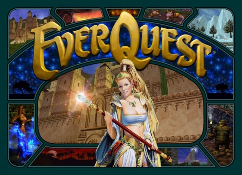 Original Everquest Icon.  This screenshot was well-known when players logged on to play.  It stayed online for several years.