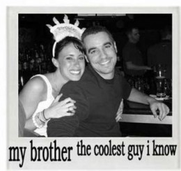 Casey Anthony with her brother, Lee Anthony.