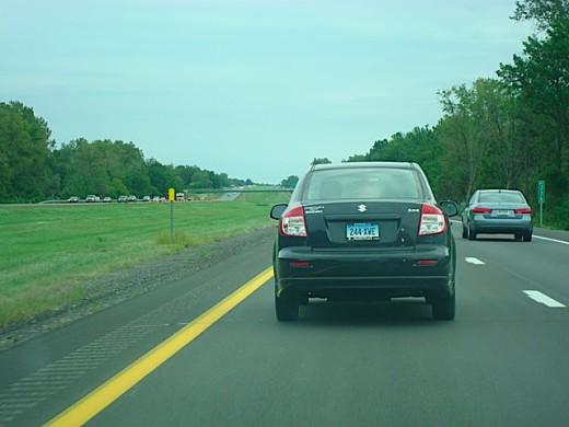 Maruti Suzuki SX4 Black roaring on USA roads.
