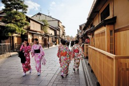 The streets of Gion has been the geisha district of Kyoto for centuries.