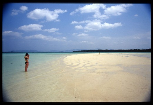 Beautiful Kondoi Beach on Taketomi Island.