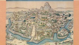 Old painting of Himeji castle.