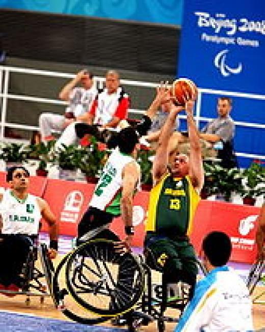 Wheelchair basketball is a popular sport.
