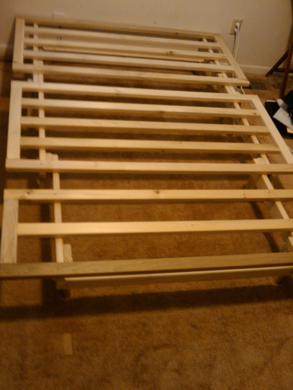kd tri fold lounger futon frame