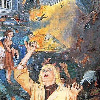 Rendering of the Tribulation Period...God pours out His Wrath on a sinful world.