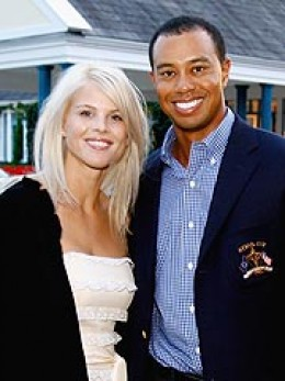 Tiger Woods with Ex wife Elin