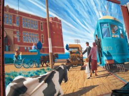 The 'In the Way of Progress' mural, 2835 Kingston Road, Scarborough