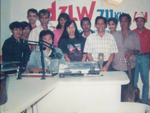 Travel Man at the back (extreme left as you look at it)) as former member of Harana or Serenade Group on the Radio, circa 1998 (Photo by Travel Man)