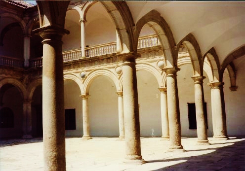 Museum of Taverna in Toledo, Spain. Used to be a hospital. Ancient records are kept in beautifully hand written centuries old books. Wonderful collection of paintings. One wing is still utilized as a school run by nuns.