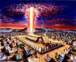 God entering the rebuilt temple.
