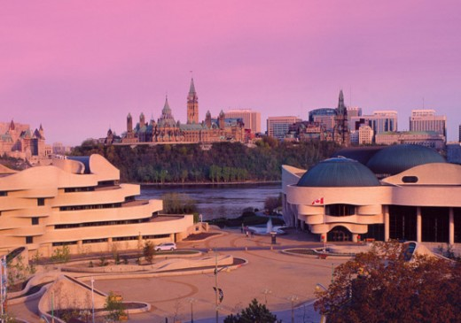 Museum of Civilization. Landmark building that celebrates the achievements and histories of Canadian and world cultures