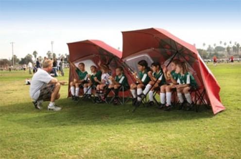 The Sports-Brella Umbrella in action