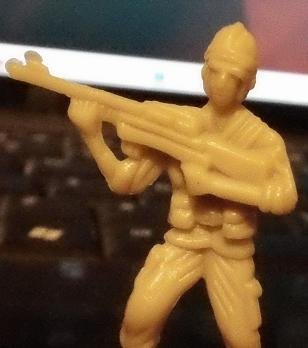A Random Picture Using the Sony MHS-FS1 of this Old Army Man Toy (low light),