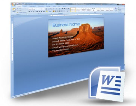 how to build a sylish business card in word