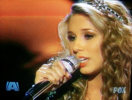 "Haley singing ""Bennie and the Jets"" as her farewell song. - American Idol 2011 Top 3 Results May 19, 2011"