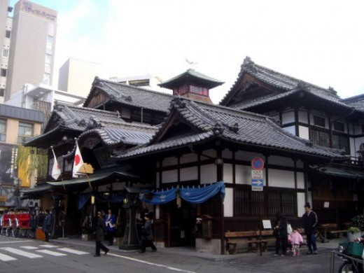 One of the most famous and oldest onsen in Japan is the Dogo Onsen in Matsuyama (Ehime Prefecture).