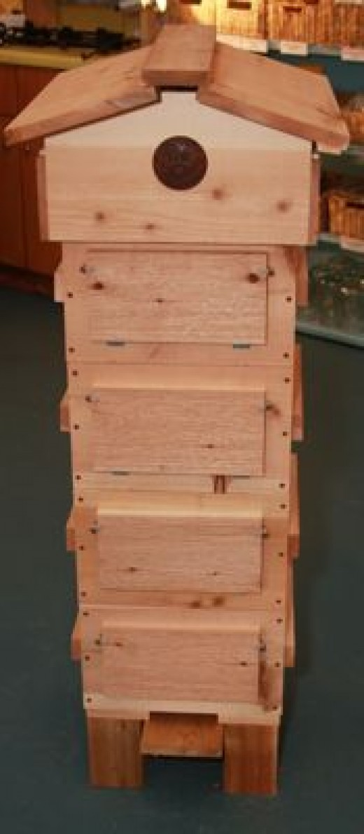 I don't have a Warre hive, but I'd like one.  They have some advantages of both top bar hives and Langstroth hives.  Wouldn't you like to live in a house this nice?