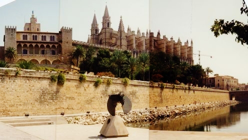 Cathedral and Almudaina Palace as viewed from the sea wall