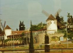 Windmills are utilized for non-potable water uses on the island