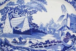 Camelopard in Chinese Landscape, Staffordshire C1805-10