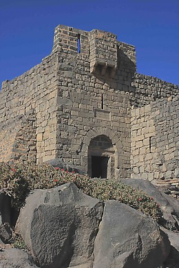 The Great Gatehouse at the Blue Fort. Lawrence of Arabia lived in a room above this gatehouse during the First World War Arab / Turk conflict
