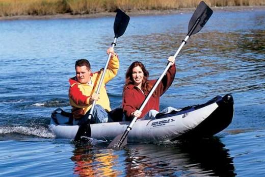 Enjoying an Inflatable Kayak