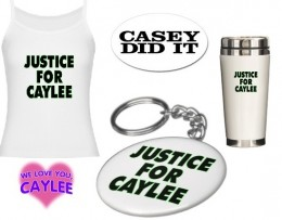 """Justice For Caylee"" merchandise on Cafepress."