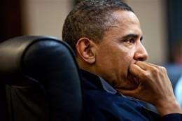 President Barack Obama in his office.