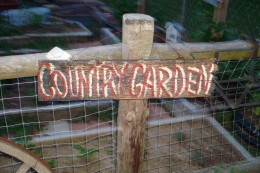 Display signs in your garden, they are available with any saying from the Scrappy Signs Collection by Rented Mule