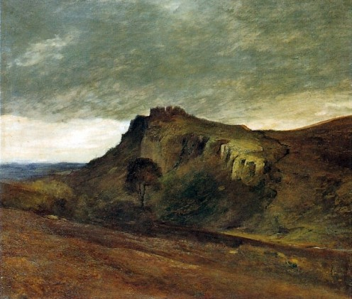 Carreg Cennan (now spelt 'Cennen') Castle, by Mansel Lewis