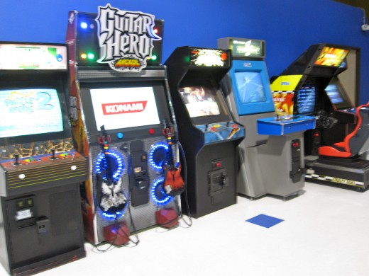 The Video Game Area at Sky High in Costa Mesa, CA.