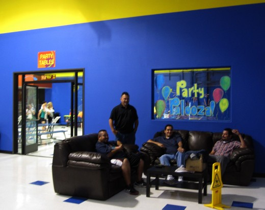 A Waiting Area at Sky High in Costa Mesa, CA.