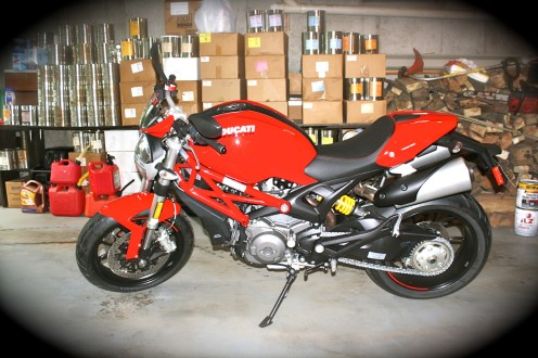This is my Ducati 'Monster' 796 sport bike. It's a wonderful machine both in looks and performance.