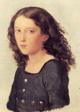 Felix Mendelssohn Bartholdy 1821; Rough drawing in oil by Carl Joseph Begas