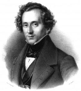 Felix Mendelssohn Bartholdy; By Friedrich Jentzen (1815-1901); painting by Theodor Hildebrandt (1804-1874) [Public domain], via Wikimedia Commons