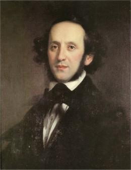 Felix Mendelssohn Bartholdy, portrait by Edward Magnus 1846