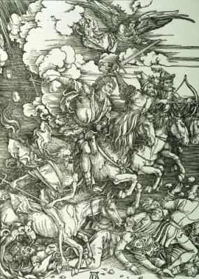 """""""Four Horsemen of the Apocalypse"""" by Albrecht Durer"""