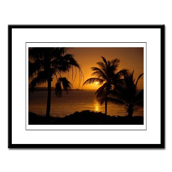 Grace Bay Sunset Large Framed Print
