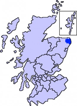 Map location of Buchan, Aberdeenshire, Scotland