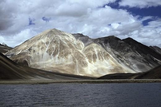 Amazing and unique Pangong Tso Lake in Leh Ladakh